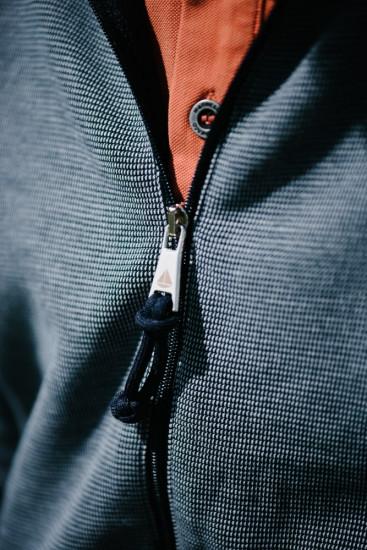 gilet zippé col montant maille chinée pour homme