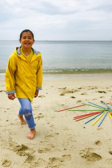 ciré imperméable doublé coton bleu marine mixte pour enfant