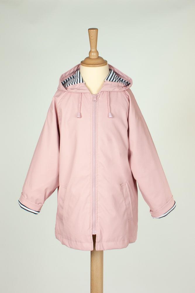 ciré imperméable doublé coton rose mixte pour enfant