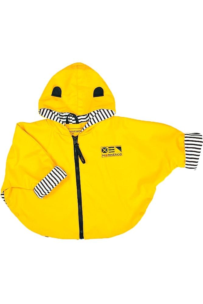 ciré imperméable forme cape jaune pour bébé et enfant